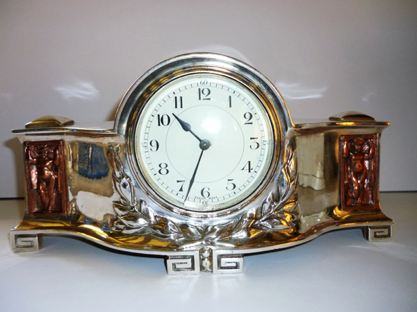 Olde Time Arts & Crafts Mantel Clock