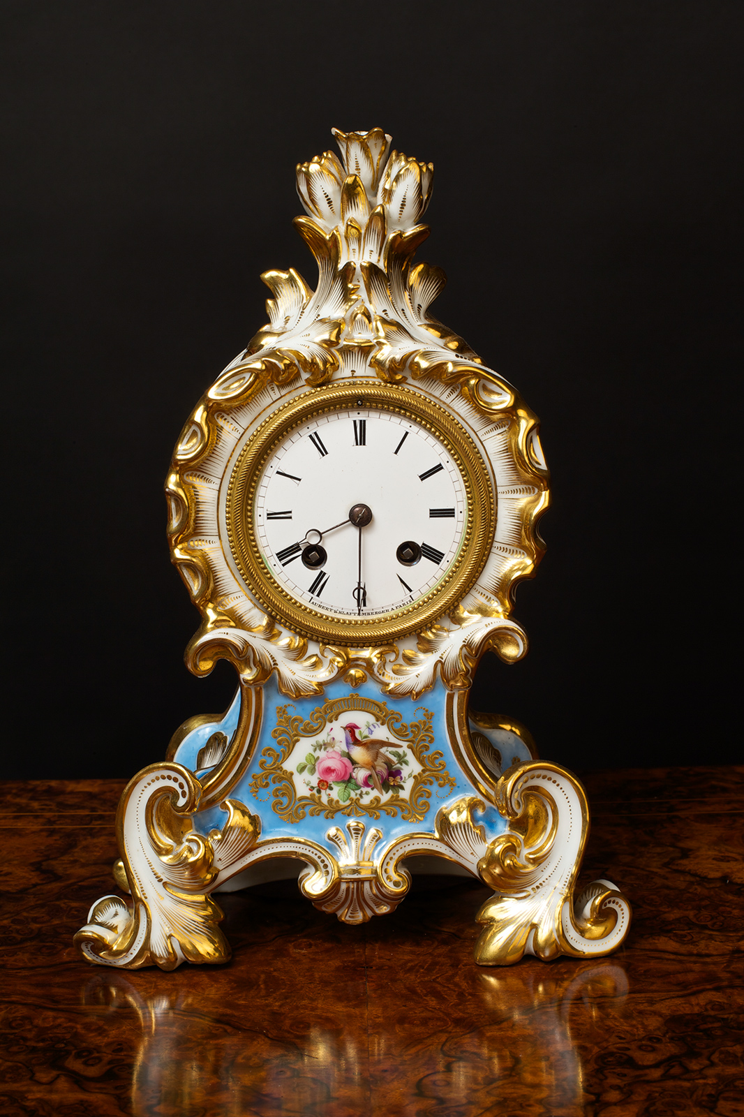 Olde Time French Porcelain Mantel Clock