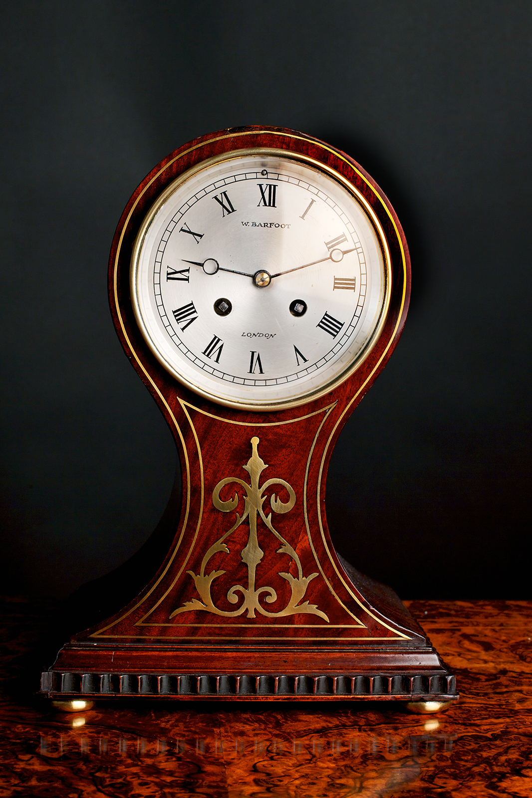 Olde Time French Mahogany Balloon Clock
