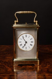 Olde Time Victorian Brass Repeating Carriage Clock