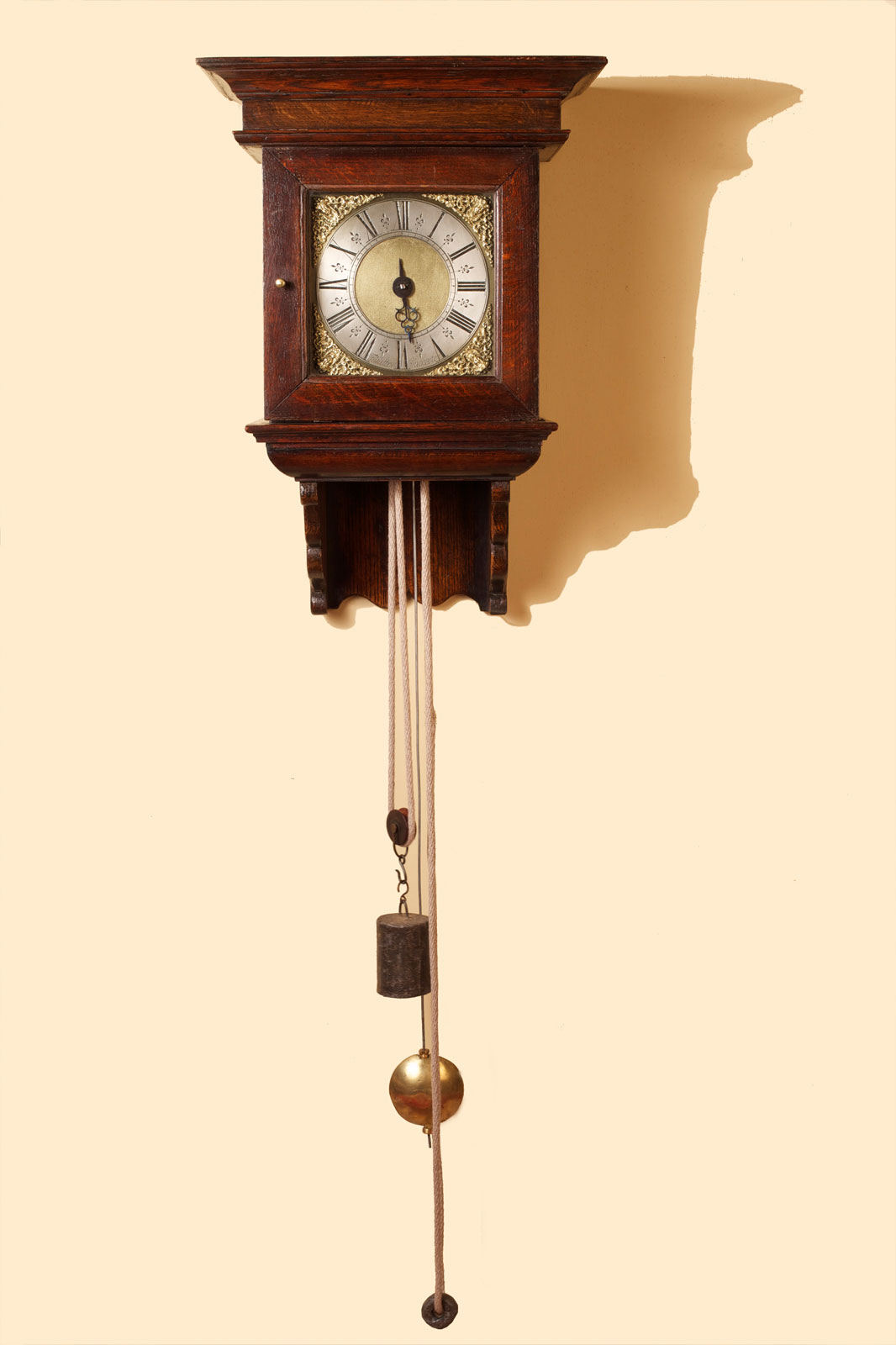 Olde Time George II Hooded Wall Clock