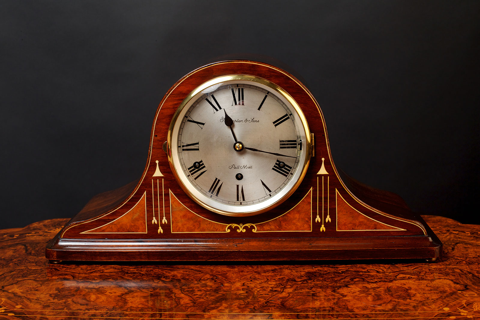 Olde Time Edwardian Westminster chiming Mantel Clock