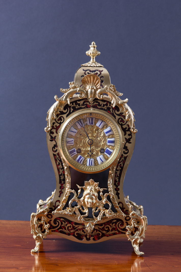 Olde Time French Tortoiseshell Boulle Clock
