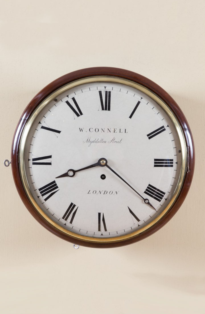 Olde Time Early Victorian Convex Dial clock