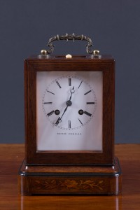 Olde Time Rosewood cased Campaign Clock