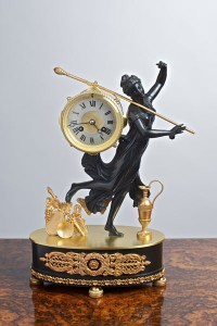 Olde Time Empire Ormolu & Bronze Mantel Clock
