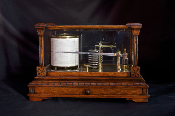 Olde Time Victorian Oak Cased Barograph