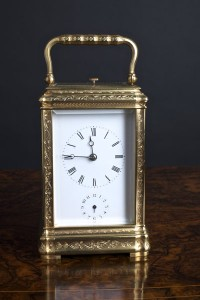 Olde Time Engraved Repeating Carriage Clock