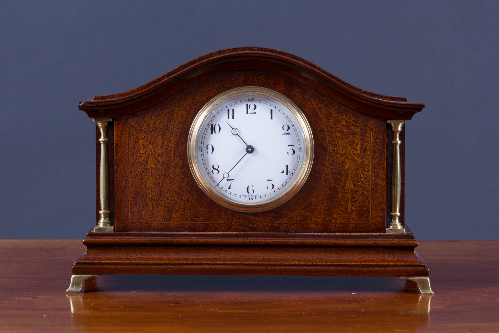 Olde Time Edwardian mahogany mantel clock