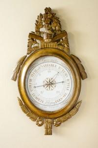 Olde Time Giltwood Oval Framed French Barometer