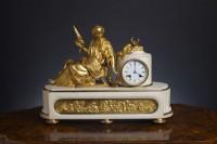 Olde Time Napolean III Marble & Ormolu Clock