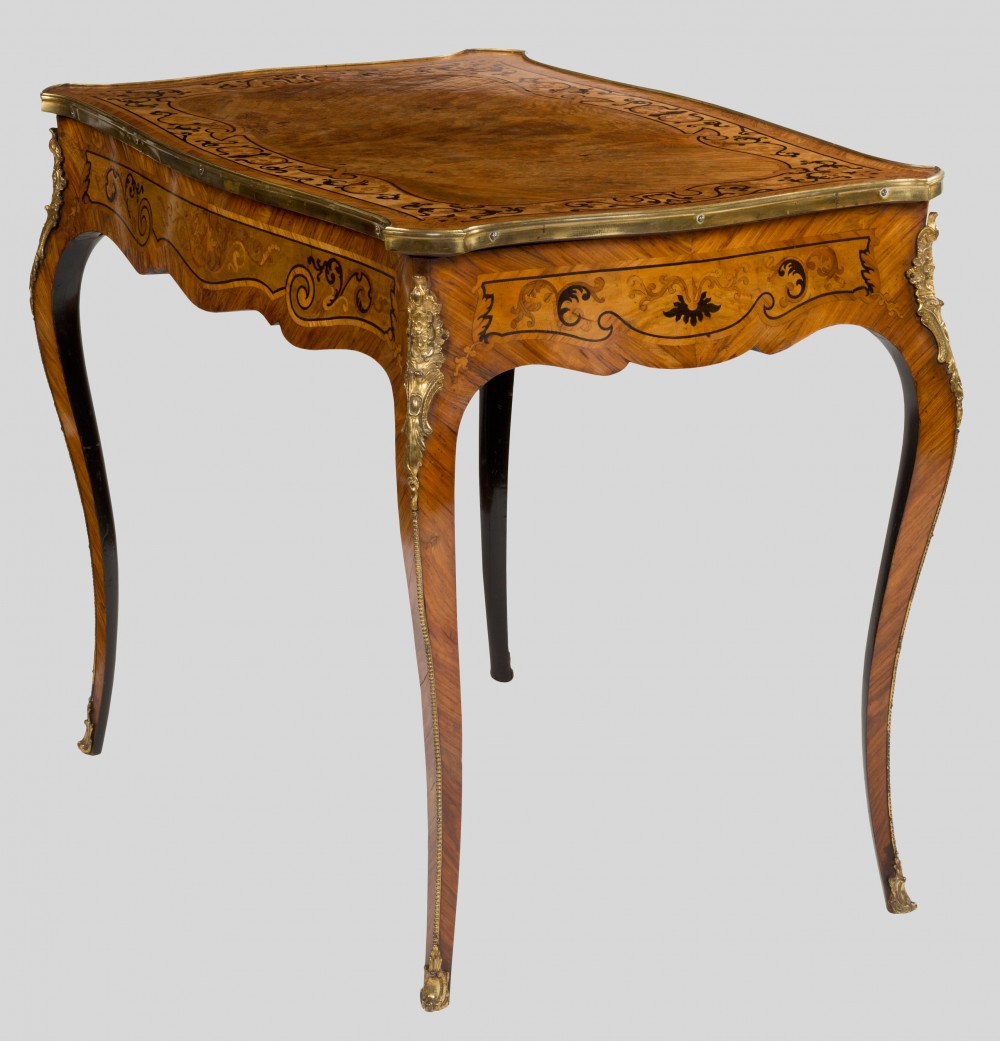 French Walnut Side Table Olde Time Antique Clocks And