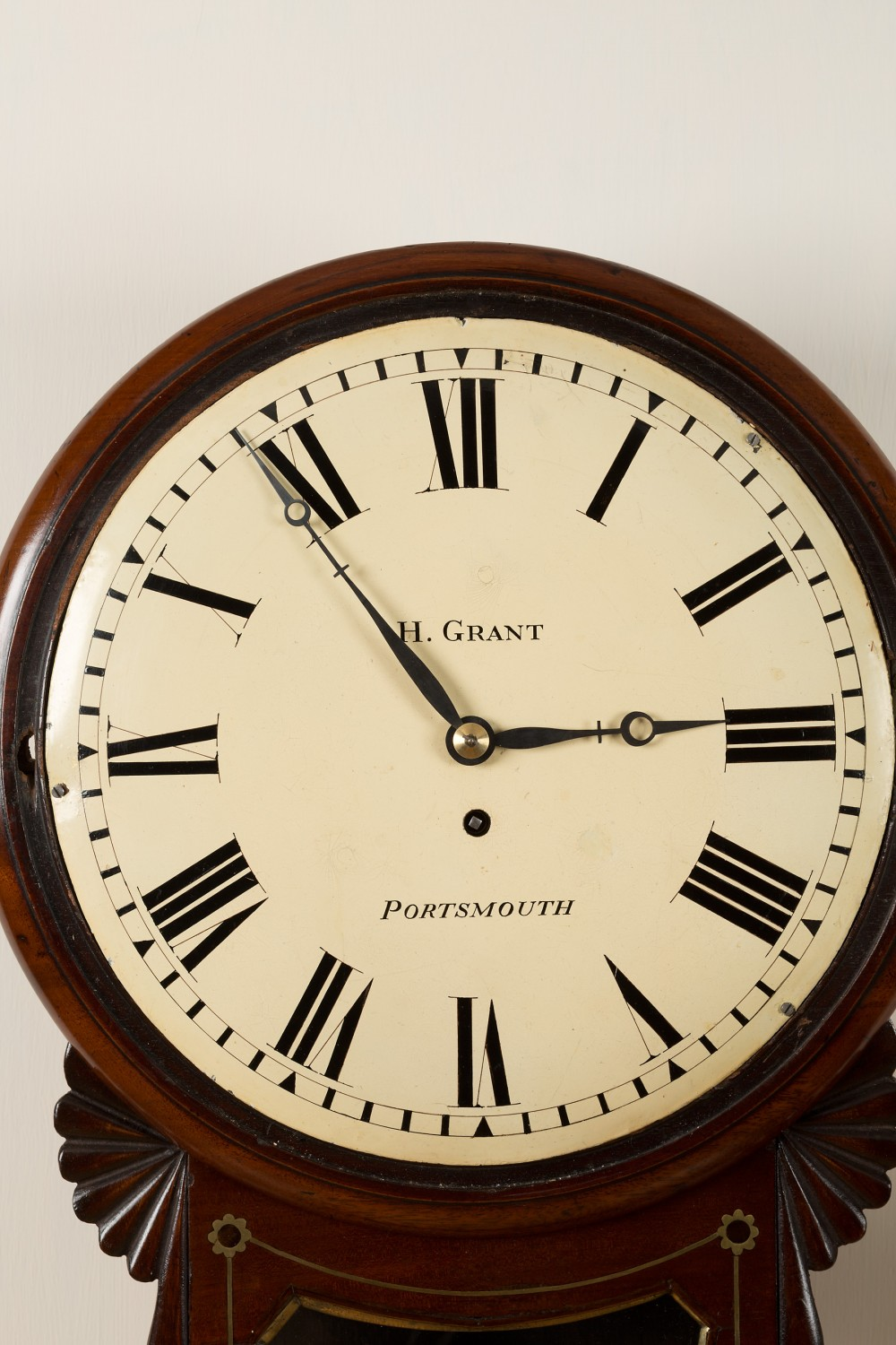 Regency Convex Dial Wall Clock By Grant Portsmouth Olde