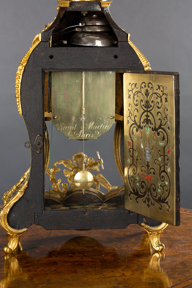 Louis Xv Boulle Clock With Quarter Repeat Facility Olde