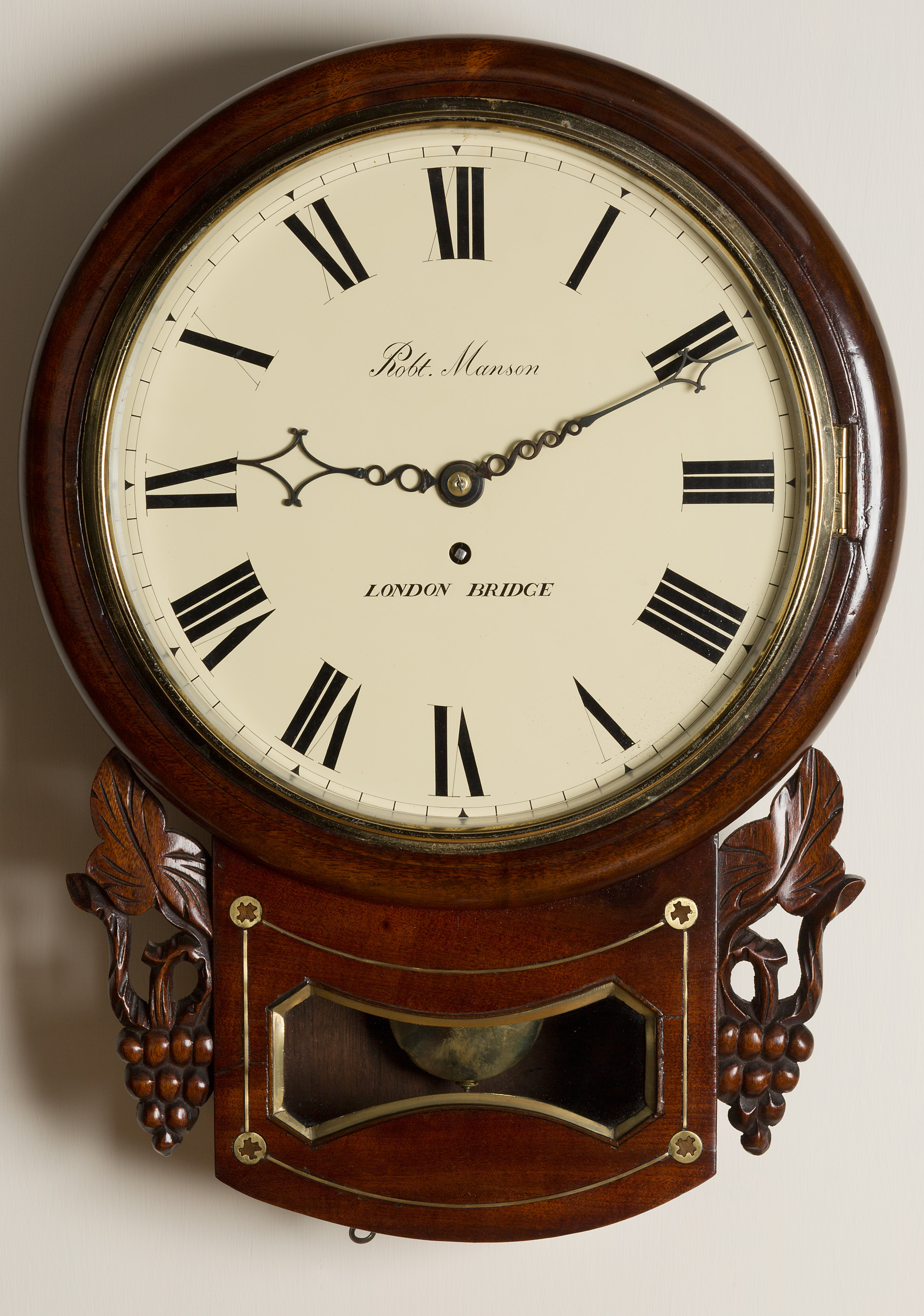 Victorian Drop Dial Clock By Manson London Bridge Olde