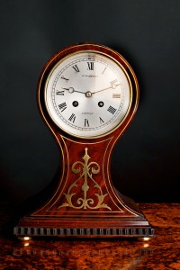 Olde Time French Mahogany Balloon Clock