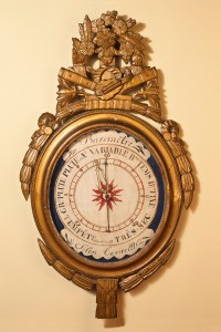 Olde Time Carved gilt wood Louis XVI French Barometer