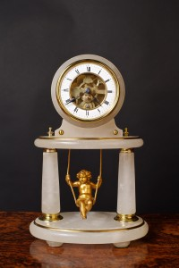 Olde Time French Swinging Cherub Clock