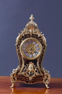 Olde Time French Tortoiseshell Boulle Clock