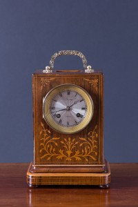 Olde Time Rosewood Campaign Clock by Duvoye, Paris