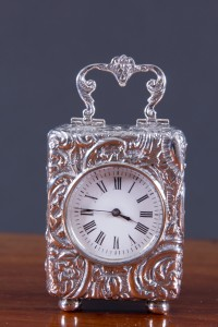 Olde Time Miniature Silver Carriage Clock