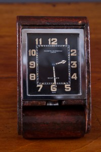 Olde Time Art Deco Travel Clock