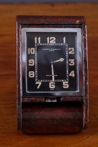Olde Time Art Deco Travel Clock