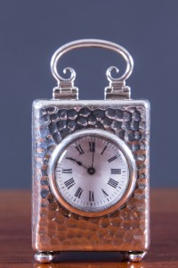 Olde Time Silver Carriage Clock by William Comyns
