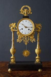 Olde Time Directoire Ormolu Portigo Clock