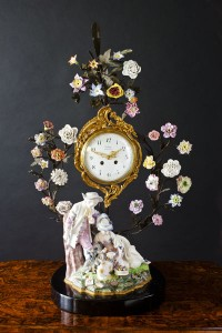 Olde Time Porcelain Mantel Clock