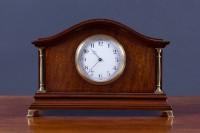 Olde Time Edwardian mahogany mantel clock