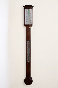 Olde Time George III Stick Barometer by J. King, Bristol