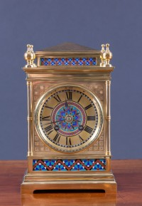 Olde Time French Ormolu and Champleve clock