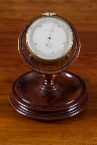 Olde Time Late Victorian gilt pocket Barometer/ Altimeter