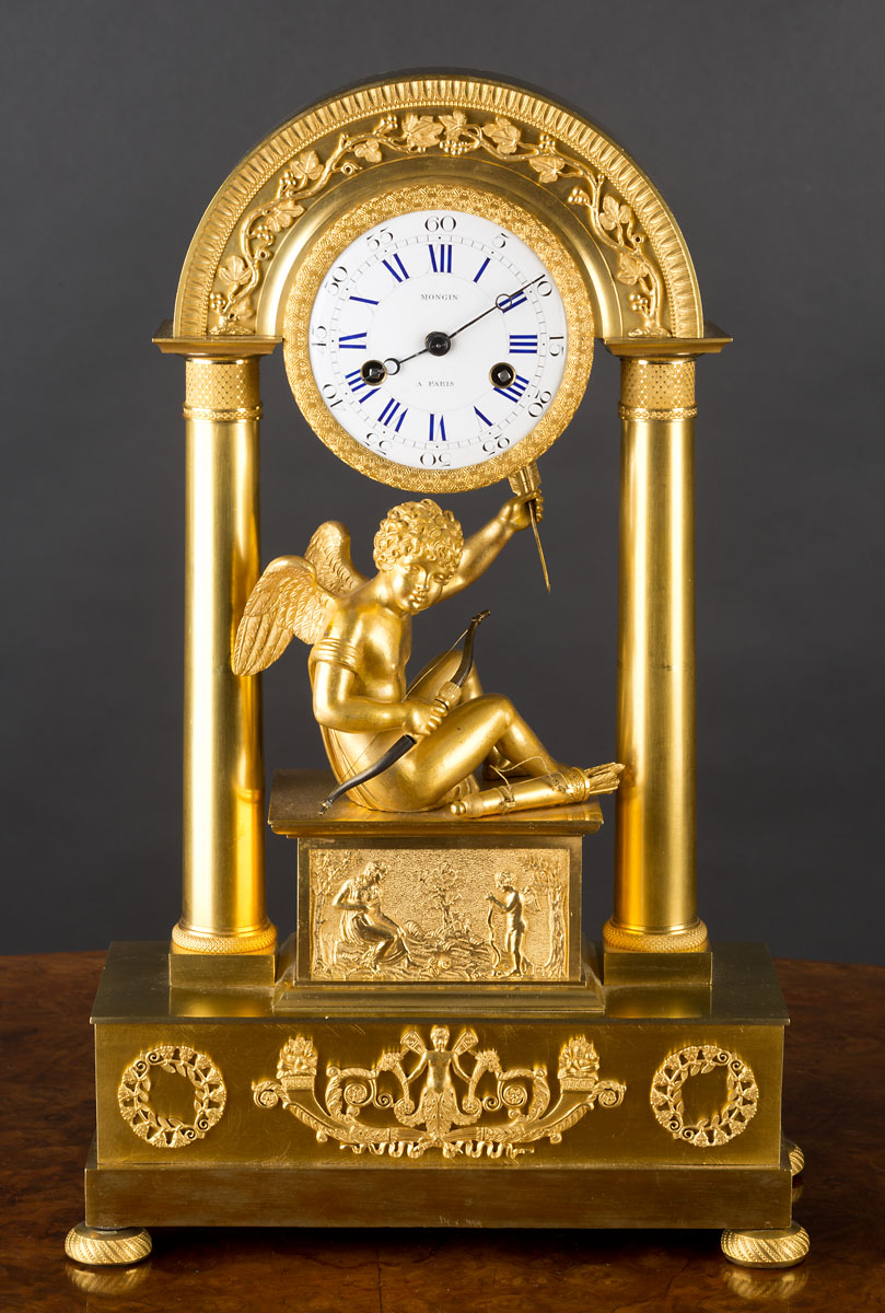 French Charles X Ormolu Mantel Clock Olde Time Antique